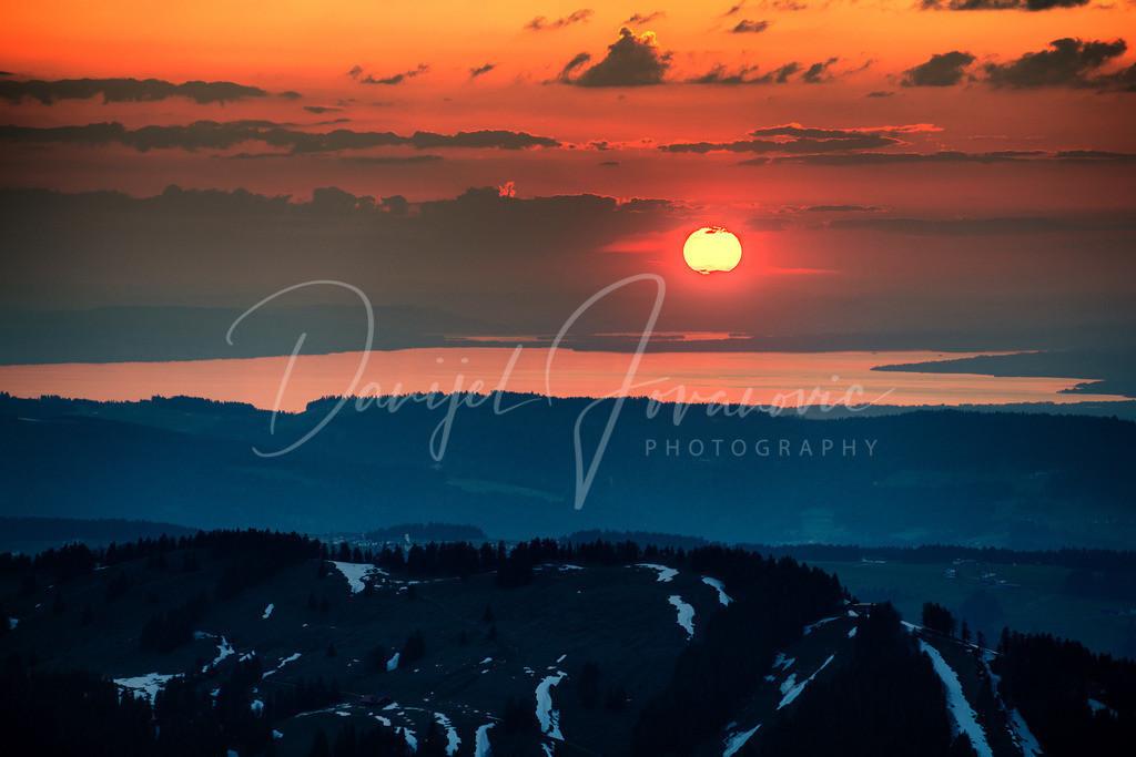 Sonnenuntergang | Sonnenuntergang über dem Bodensee