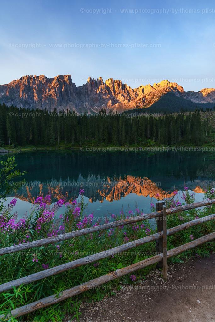 Karersee Dolomiten Sonnenaufgang-4