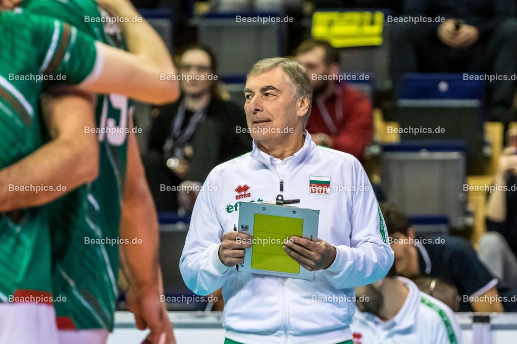 2020-00057080-CEV-European-Olympic-Qualification-Tokyo-2020 | PRANDI Silvano (Head Coach - BUL); 06.01.2020; Berlin, ; Foto: Gerold Rebsch - www.beachpics.de