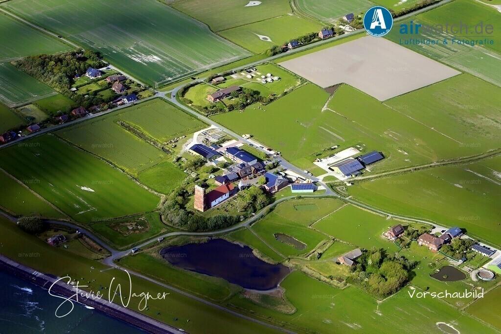 Luftbilder Insel Pellworm, Nordseeheilbad,  UNESCO Weltnaturerbe Wattenmeer | Luftbilder Insel Pellworm, Nordseeheilbad,  UNESCO Weltnaturerbe Wattenmeer