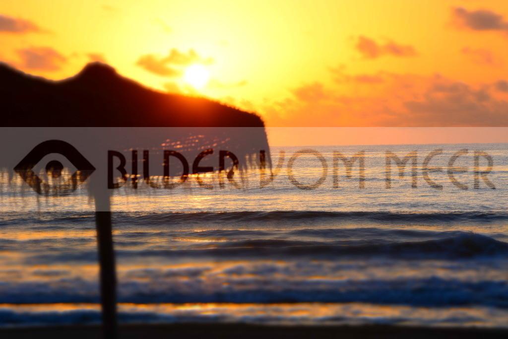 Strand Bilder | Strand Bilder mit Sonnenaufgang am Meer