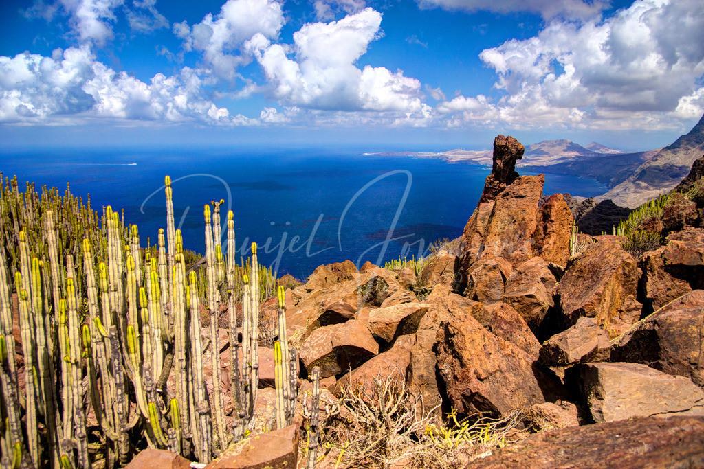 Anden Verde   Blick von Anden Verde Richtung Agaete und Puerto de las Nieves