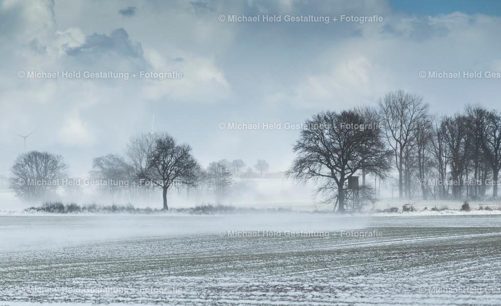 01 Januar | Schneesturm bei Pratjau | Der kalte Wintersturm fegt über die Felder in der Nähe von Pratjau