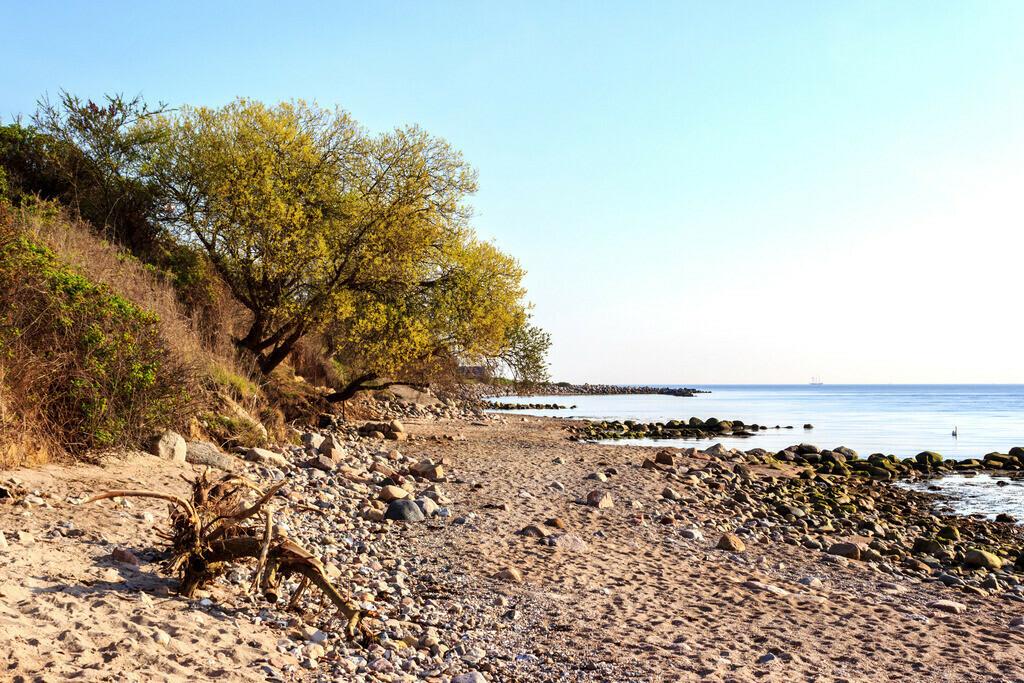 Frühling an der Ostsee   Strand in Kleinwaabs