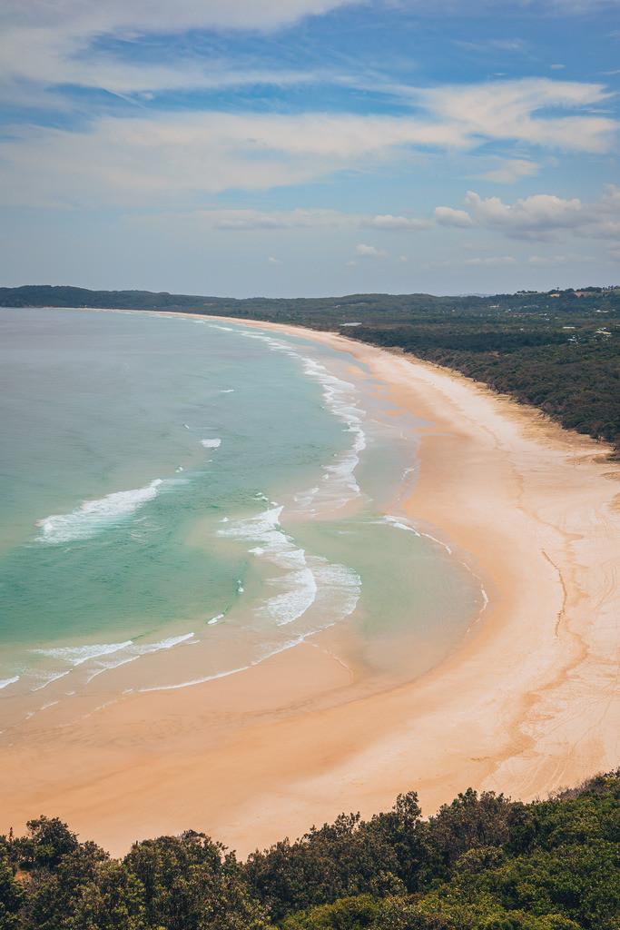 Byron Bay Strand | Blick auf den Strand der Byron Bay