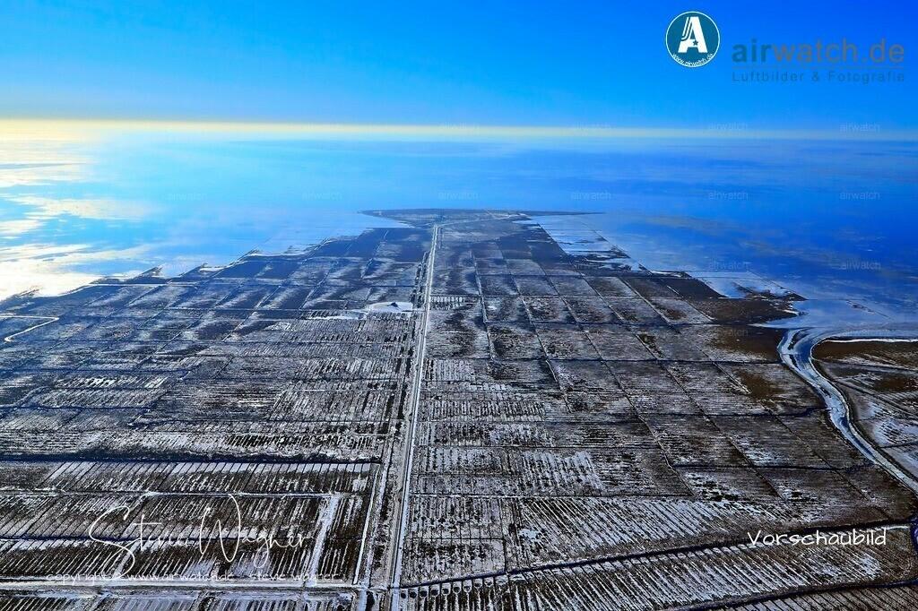 Winter Luftbilder, Nordsee, Nordfriesland, Hamburger Hallig | Winter Luftbilder, Nordsee, Nordfriesland, Hamburger Hallig