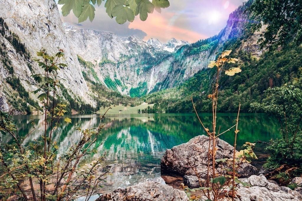 Königssee - Obersee | Traumpanorama auf den wunderschönen Obersee