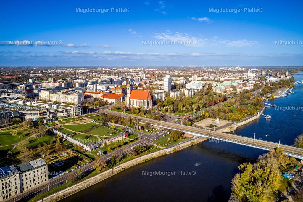 Strombrücke-0006 | Luftbilder aus der Vogelperspektive von MAGDEBURG ... mit Drohne oder von oben fotografiert für die Bilddatenbank der Luftbildfotografie von Sachsen - Anhalt.