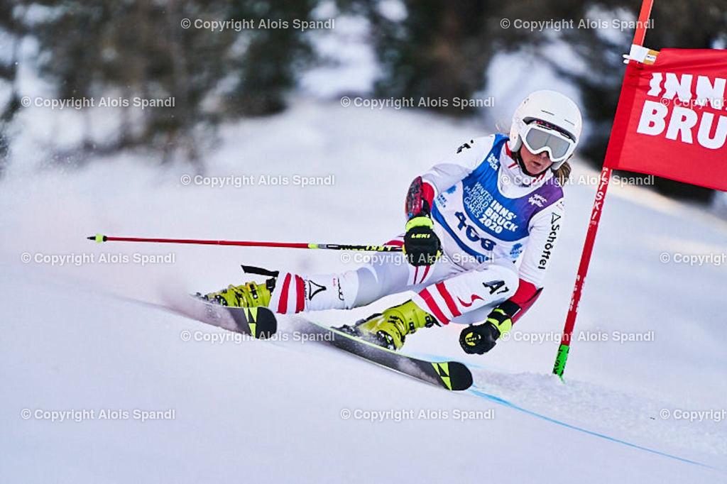 ALS6002_WWMG_GS-II_C | (C) FotoLois.com, Alois Spandl, WinterWorldMastersGames 2020 Innsbruck, Giant Slalom-II Gruppe C Damen, Patscherkofel Olympiaabfahrt, Mi 15. Jänner 2020.