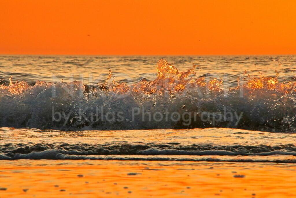 Golden Waves | Die goldene Brandung im Abendlicht am Strand von Texel.