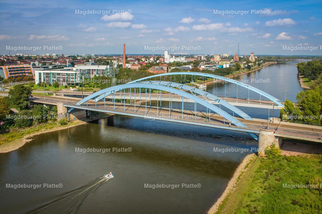 Magdeburg Jerusalembrücke Elbe Fraunhofer Luftbild-9798