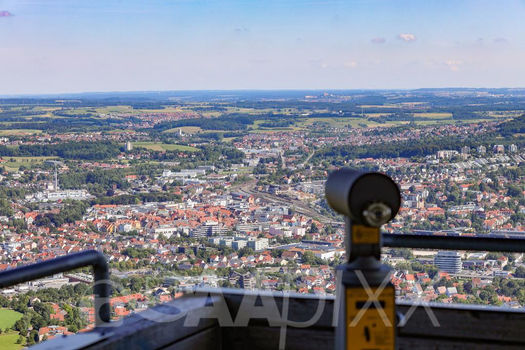 Aalen City | Die Aalener City vom Aussichtssturm Aalbäumle aus betrachtet
