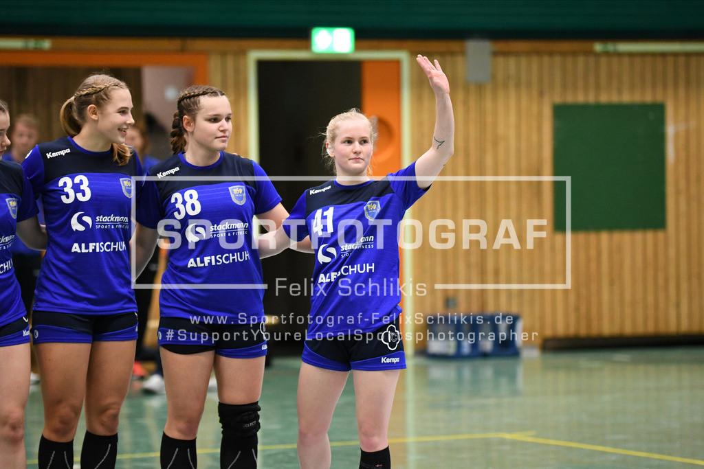 Handball I Bundesliga-Quali (wjA) I  Buxtehuder SV (wjA)- SG Hamburg-Nord I 11.10.2020_00013   ; Jugend Bundesliga (wjA) I Buxtehuder SV (wjA)- SG Hamburg-Nord am 11.10.2020 in Buxtehude  (Sporthalle Kurt-Schuhmacher Strasse), Deutschland