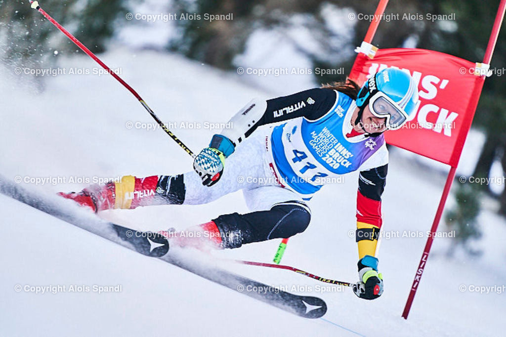 ALS5745_WWMG_GS-II_C | (C) FotoLois.com, Alois Spandl, WinterWorldMastersGames 2020 Innsbruck, Giant Slalom-II Gruppe C Damen, Patscherkofel Olympiaabfahrt, Mi 15. Jänner 2020.