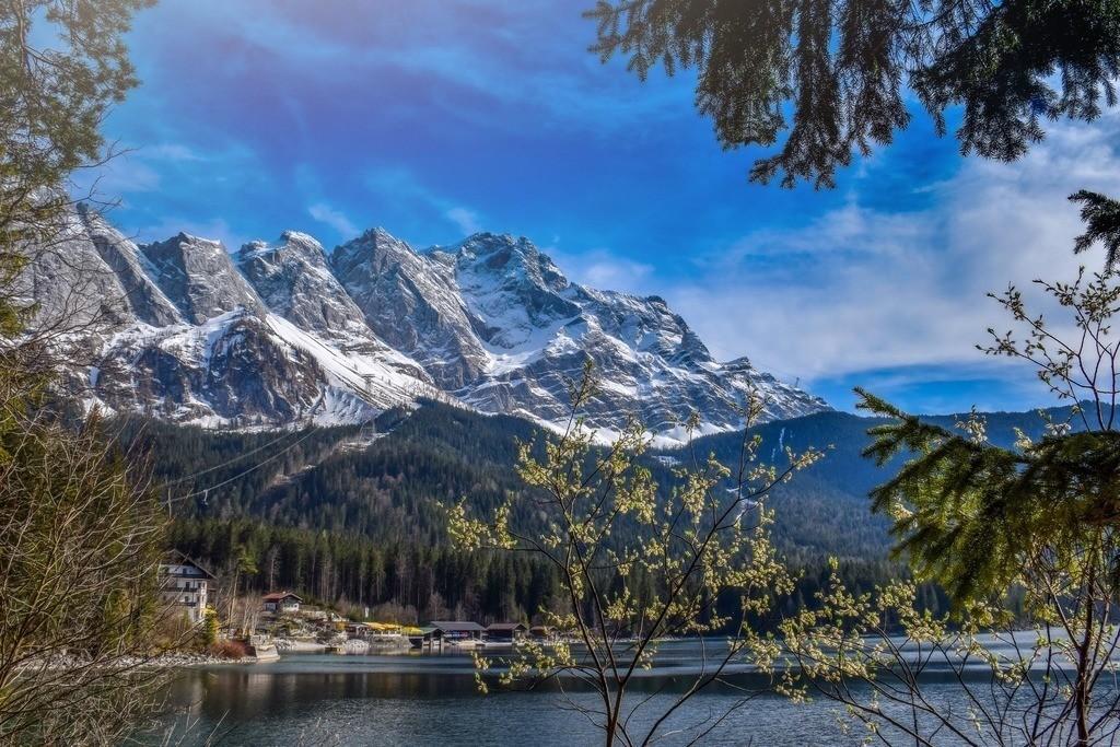 Eibseepanorama | Verschneite Berge in Bayern