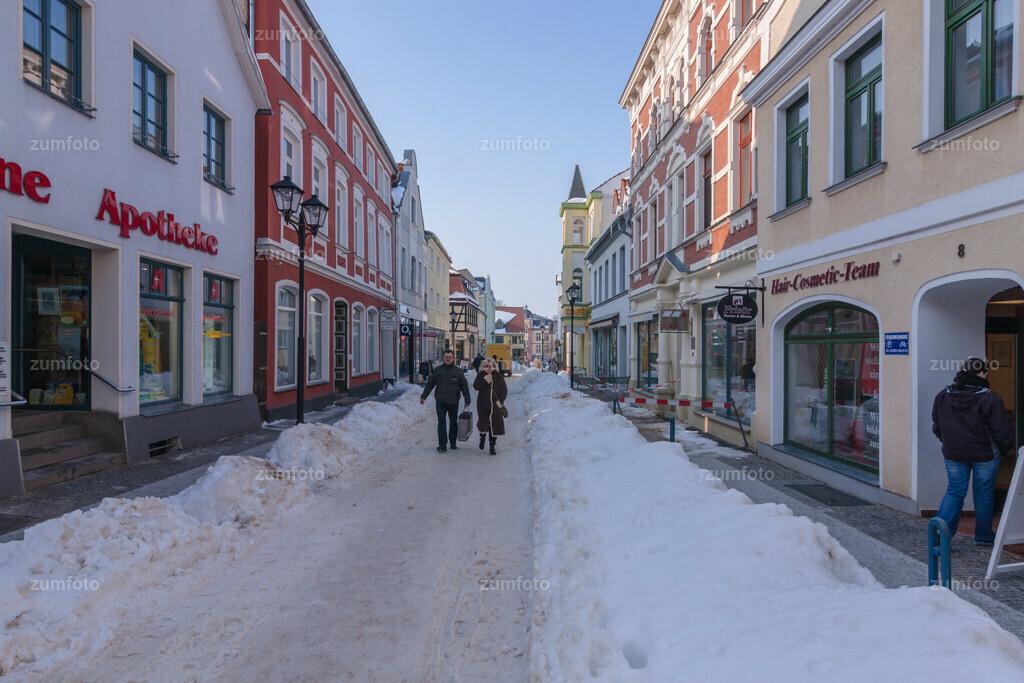Blick in die Lange Straße im Winter