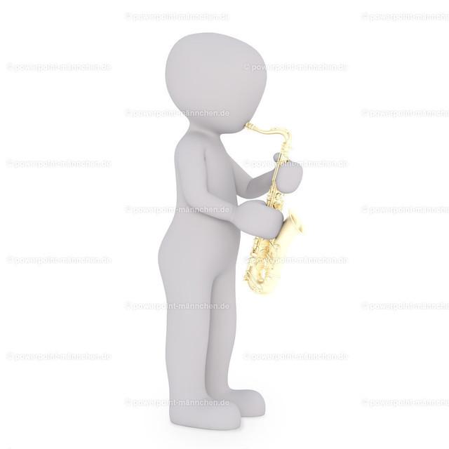 saxophone player is playing his instrument | Quelle: https://3dman.eu   Jetzt 250 Bilder kostenlos sichern
