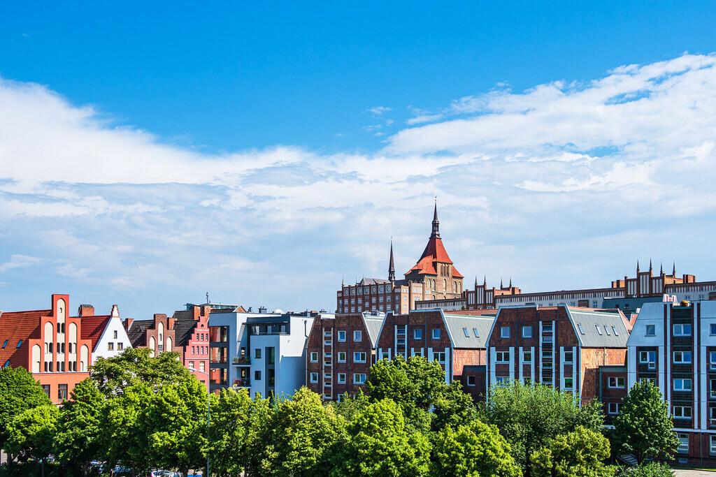 Blick auf historische Gebäude in der Hansestadt Rostock | Blick auf historische Gebäude in der Hansestadt Rostock.