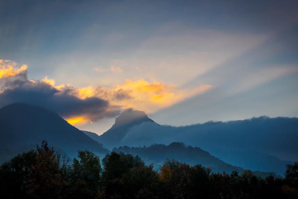 Abendhimmel über Oberaudorf 1