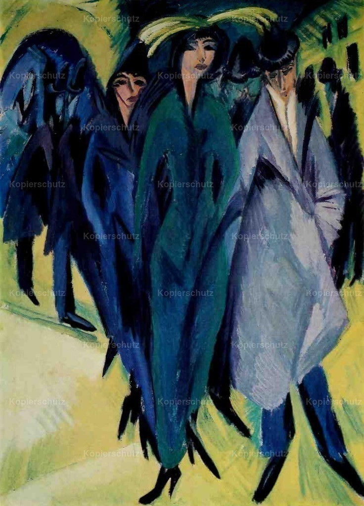 Kirchner_ Ernst Ludwig (1880-1938) - Woman on the Street
