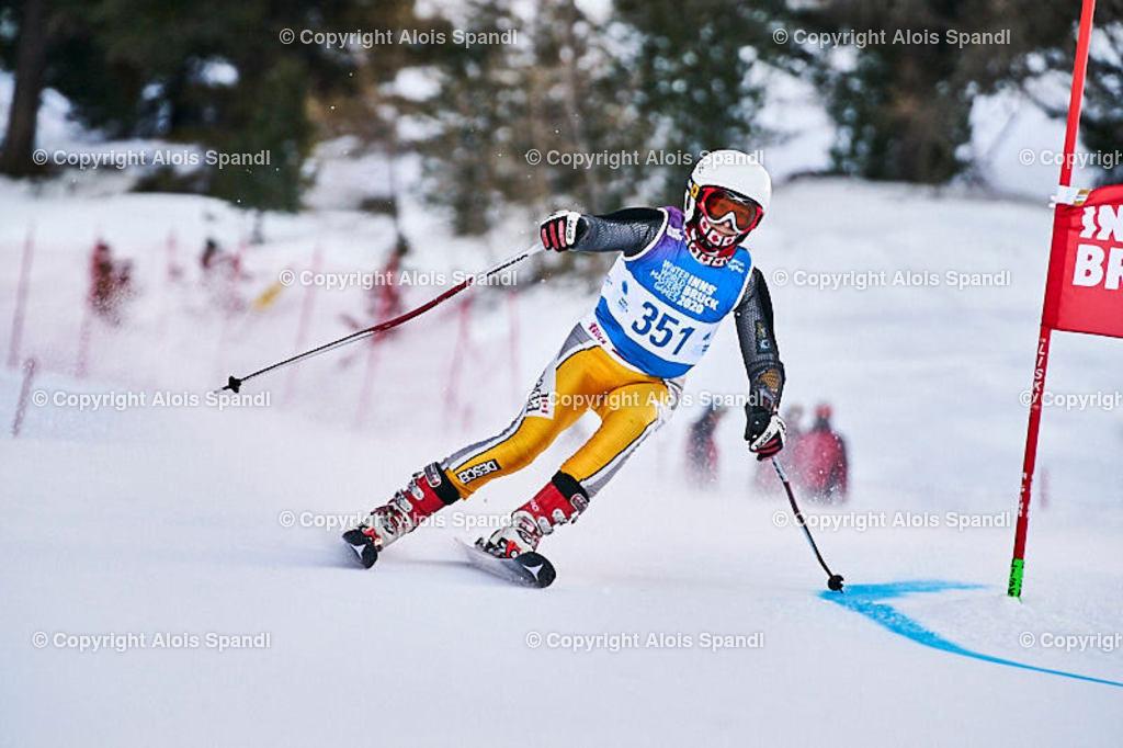 ALS5412_WWMG_GS-II_C | (C) FotoLois.com, Alois Spandl, WinterWorldMastersGames 2020 Innsbruck, Giant Slalom-II Gruppe C Damen, Patscherkofel Olympiaabfahrt, Mi 15. Jänner 2020.