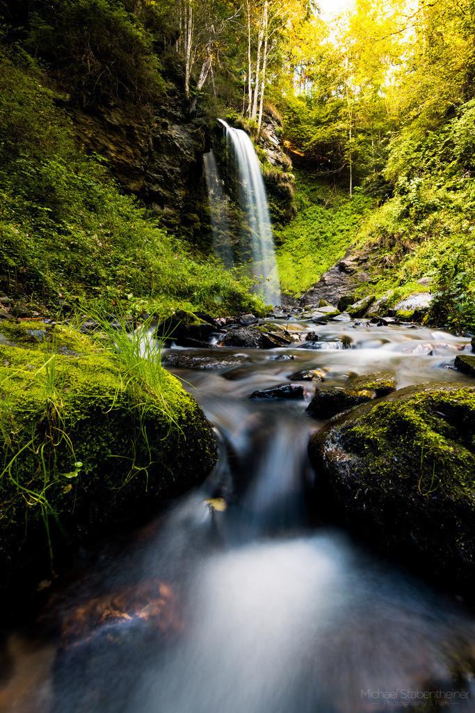 Sörger Wasserfall | Sommer am Sörger Wasserfall beim Abenteuer Wasserweg Liebenfels