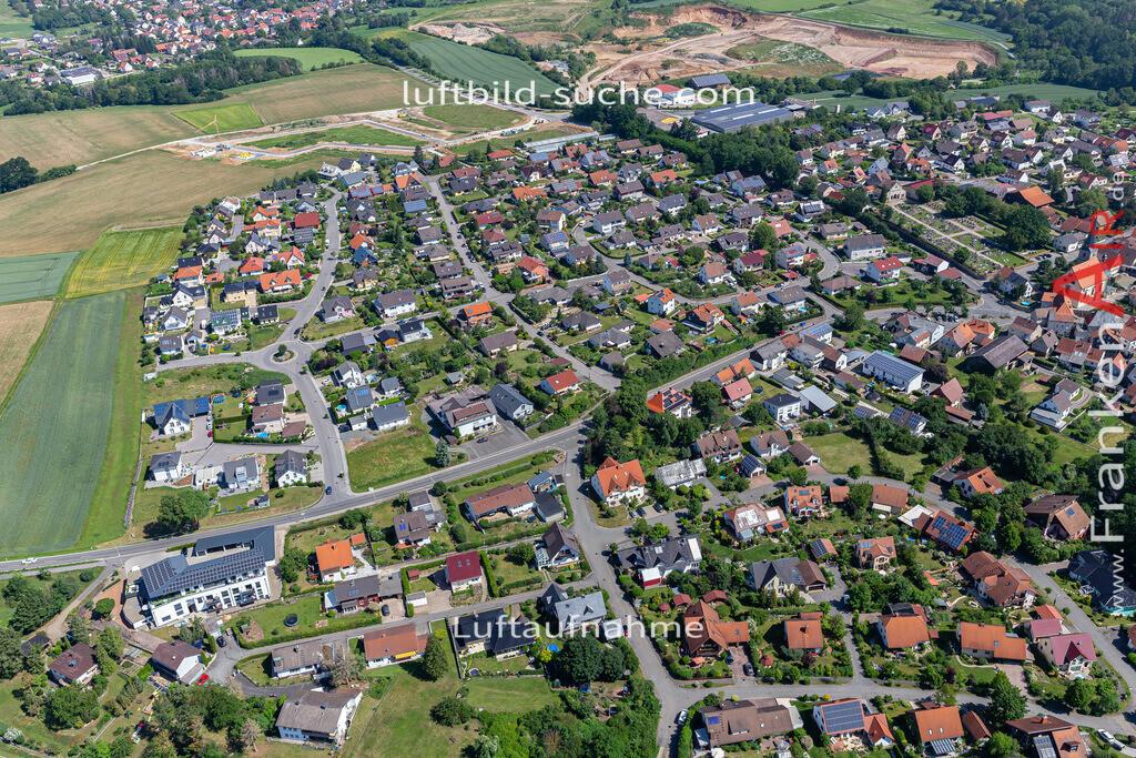 marktzeuln-2020-247 | Aktuelles Luftbild von  Marktzeuln - Die Luftaufnahme wurde 2020 mittels UL-Flugzeug erstellt ( keine Drohne ) - hochauflösende Kamera-Systeme von  Canon - Beste Qualität - Für grossformatige Ausdrucke geeignet. Die Geschenkidee !