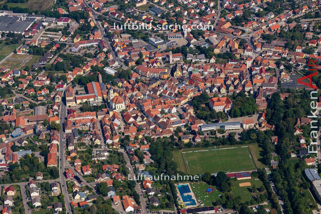 uffenheim-19-733 | aktuelles Luftbild von  Uffenheim - Luftaufnahme wurde 2019 von https://frankenair.de mittels Flugzeug (keine Drohne) erstellt.