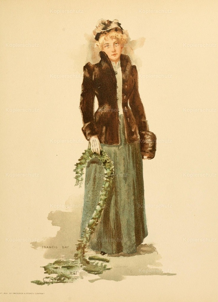 Day_ Francis (1863-1942) - Point Lace _ Diamonds 1891 - Lady in Sealskin