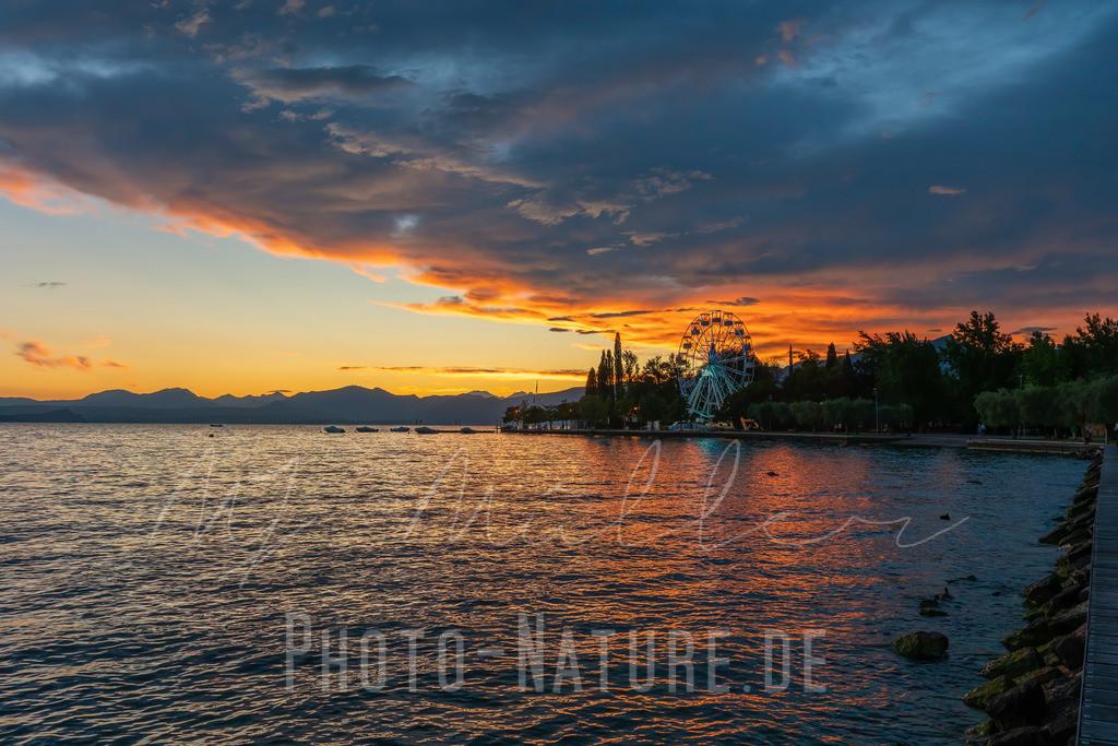 Tagesende am See | Sonnenuntergang am Lago di Garda