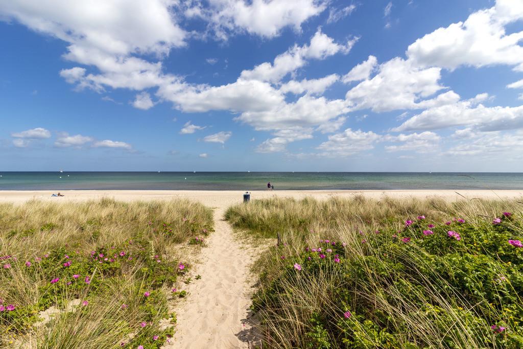Strand in Weidefeld | Weg an den Strand in Weidefeld