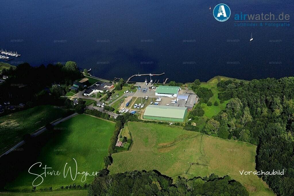Luftbild Borgwedel, Schlei, Ostseefjord, Sportboothafen, Bootswerft, Marina   Luftbild Borgwedel, Schlei, Ostseefjord, Sportboothafen, Bootswerft, Marina • max. 6240 x 4160 pix