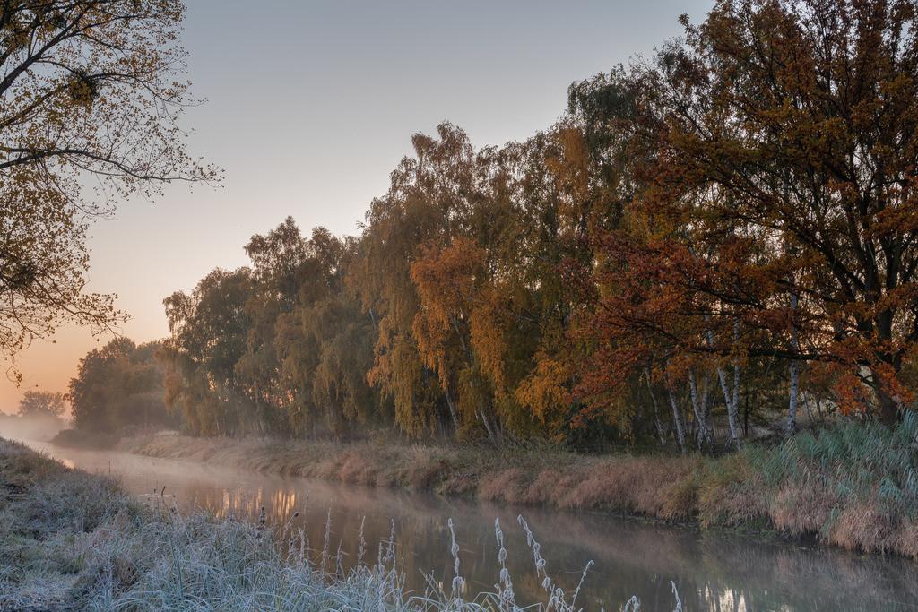 Herbst Sunrise an der Aller