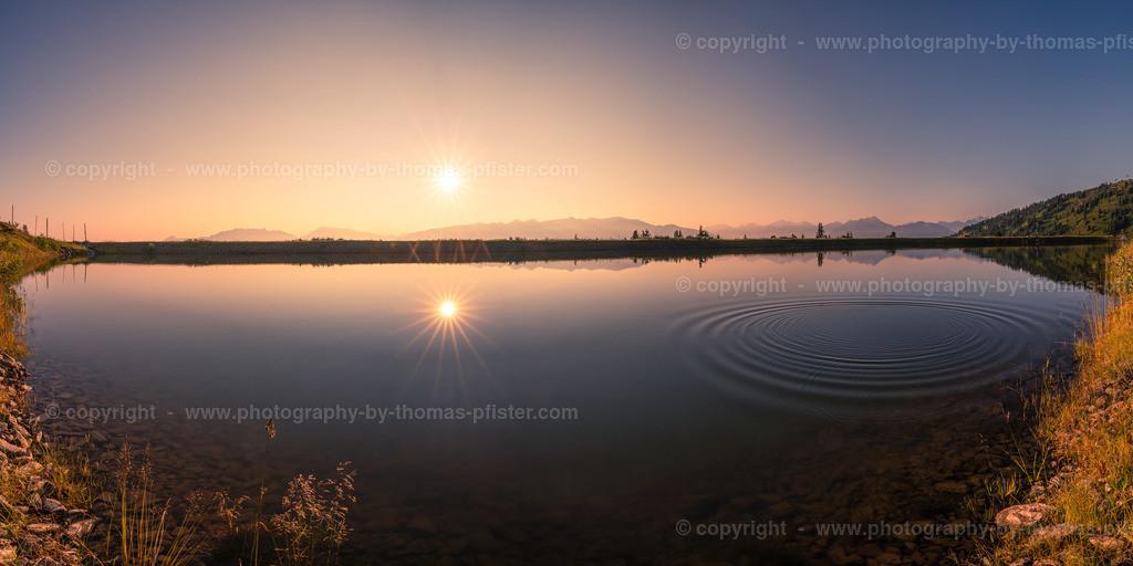 Sonnenaufgang auf der Zillertaler Höhenstrasse See-1