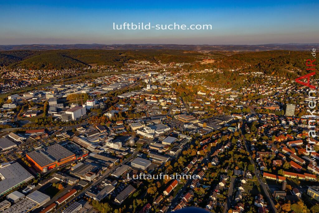kulmbach-18-2778   aktuelles Luftbild von  Kulmbach - Luftaufnahme wurde 2018 von https://frankenair.de mittels Flugzeug (keine Drohne) erstellt.
