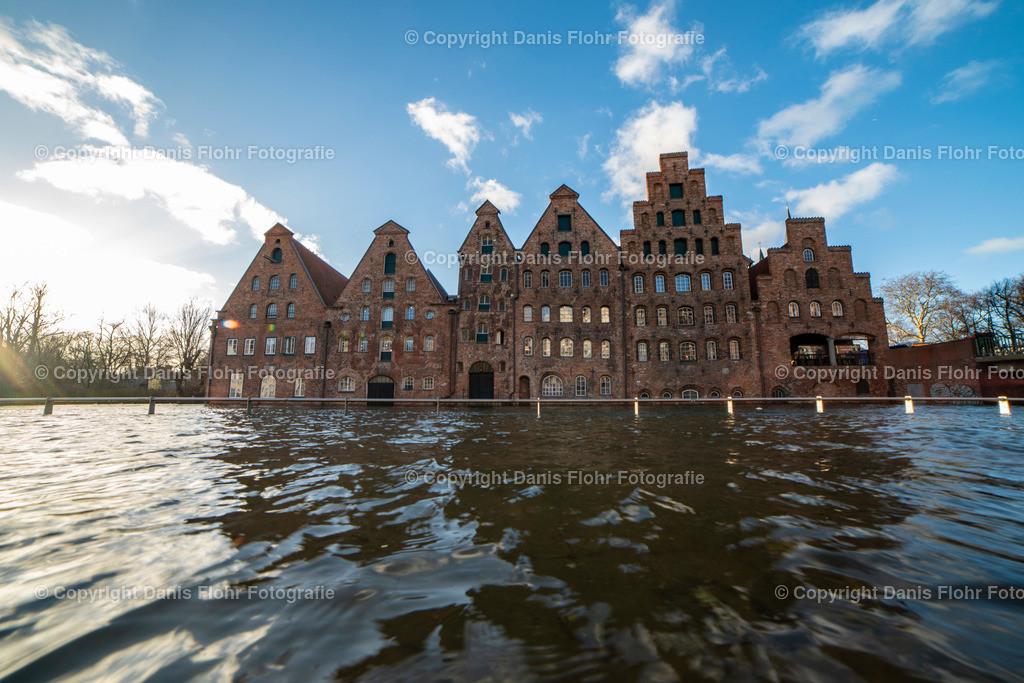 Lübecker Salzspeicher | Lübecker Salzspeicher bei Hochwasser