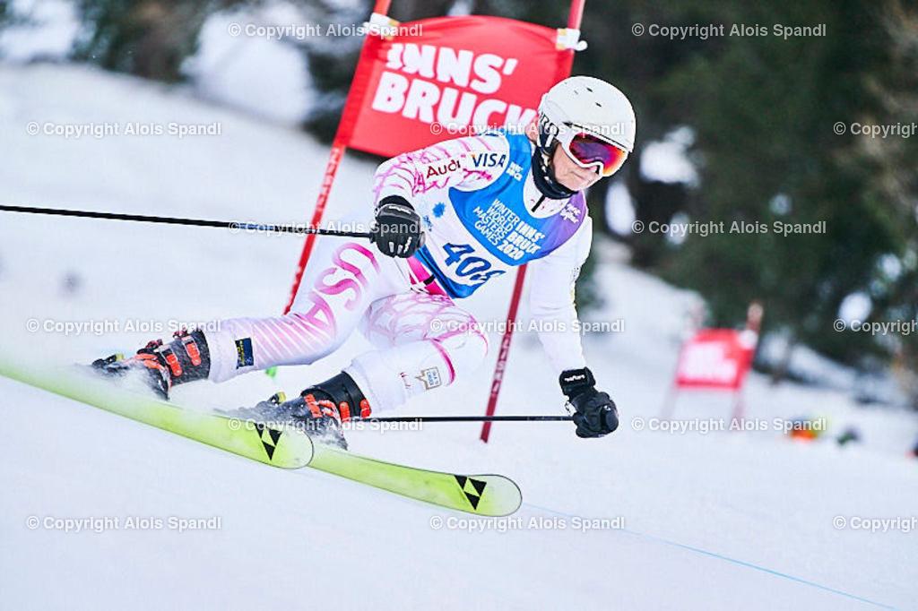 ALS5719_WWMG_GS-II_C | (C) FotoLois.com, Alois Spandl, WinterWorldMastersGames 2020 Innsbruck, Giant Slalom-II Gruppe C Damen, Patscherkofel Olympiaabfahrt, Mi 15. Jänner 2020.