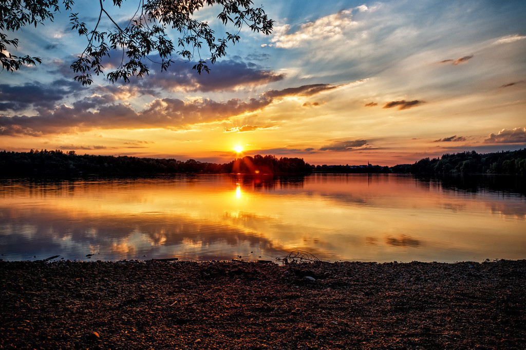Sonnenuntergang am Abtsdorfer See | Sonnenuntergang am Abtsdorfer See