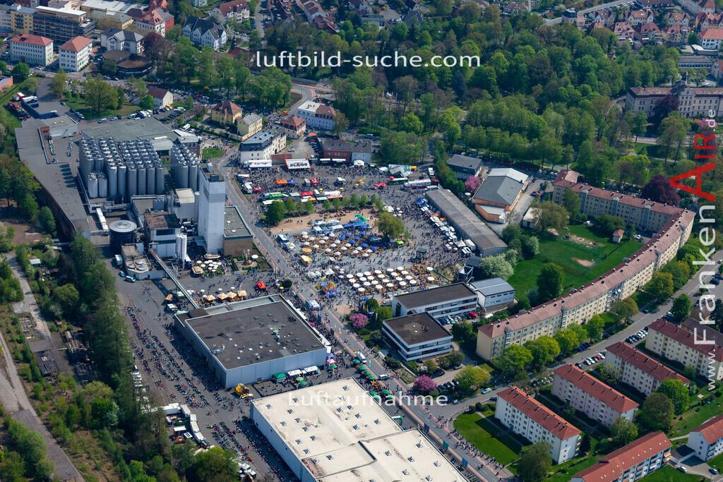 kulmbach-18-63   aktuelles Luftbild von  Kulmbach - Luftaufnahme wurde 2018 von https://frankenair.de mittels Flugzeug (keine Drohne) erstellt.