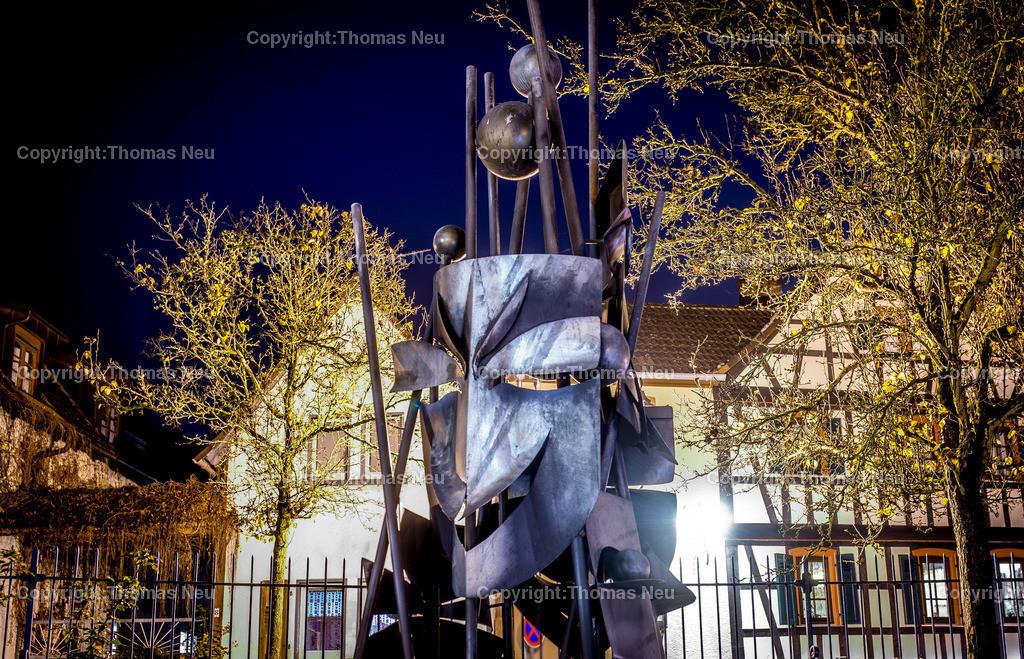 Maskenturm   Zwingenberg, bergstrasse bei Nacht, Maskenturm, ,, Bild: Thomas Neu