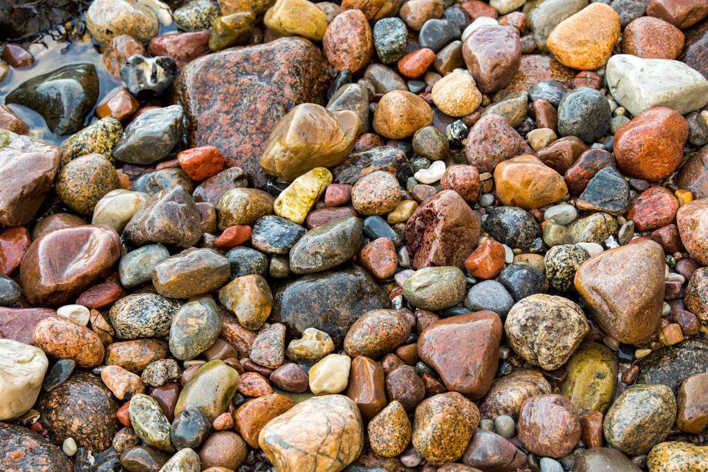 JT-161226-099 | Viele große und kleine Kieselsteine, an einem Strand, Insel Rügen, Ostseeküste,