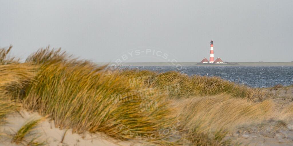 _MOB6148 | Westerhever Leuchtturm bei Hochwasser