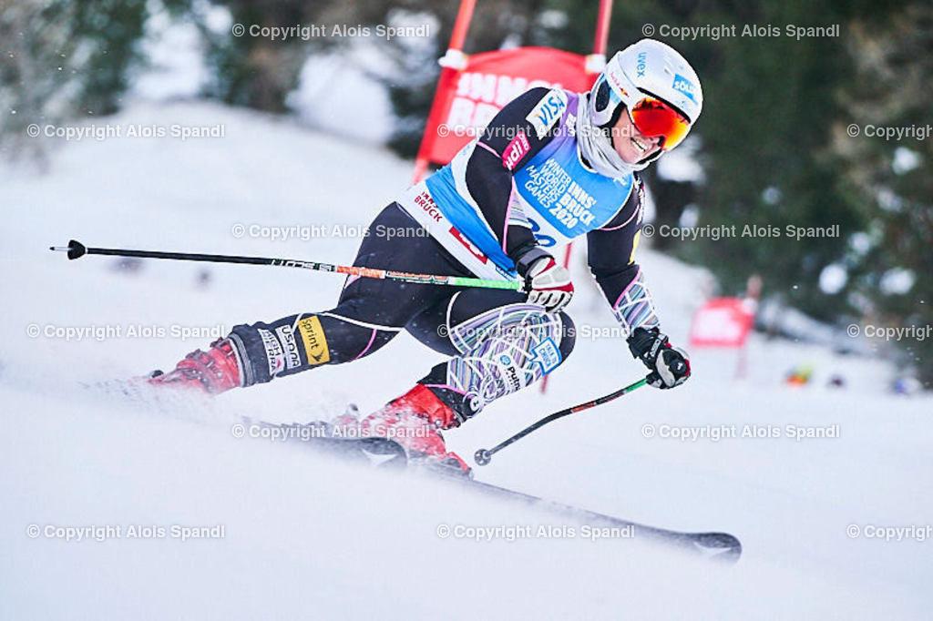 ALS5726_WWMG_GS-II_C   (C) FotoLois.com, Alois Spandl, WinterWorldMastersGames 2020 Innsbruck, Giant Slalom-II Gruppe C Damen, Patscherkofel Olympiaabfahrt, Mi 15. Jänner 2020.