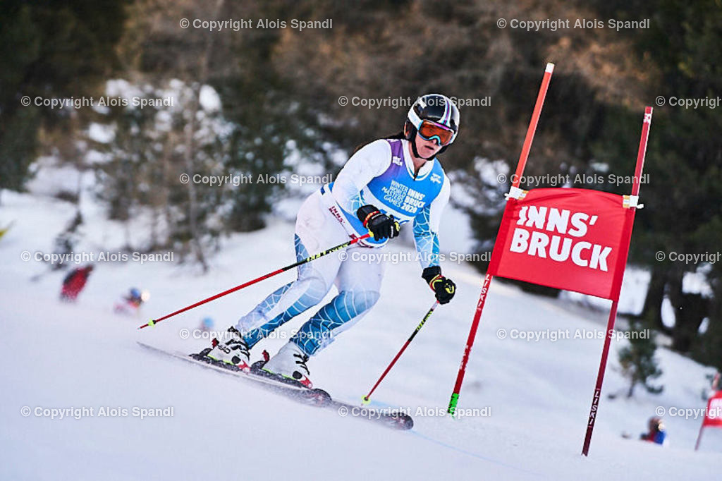 ALS5972_WWMG_GS-II_C | (C) FotoLois.com, Alois Spandl, WinterWorldMastersGames 2020 Innsbruck, Giant Slalom-II Gruppe C Damen, Patscherkofel Olympiaabfahrt, Mi 15. Jänner 2020.