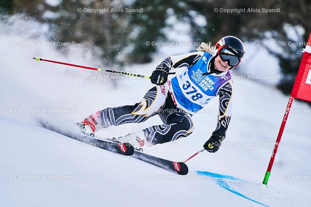 ALS5572_WWMG_GS-II_C | (C) FotoLois.com, Alois Spandl, WinterWorldMastersGames 2020 Innsbruck, Giant Slalom-II Gruppe C Damen, Patscherkofel Olympiaabfahrt, Mi 15. Jänner 2020.