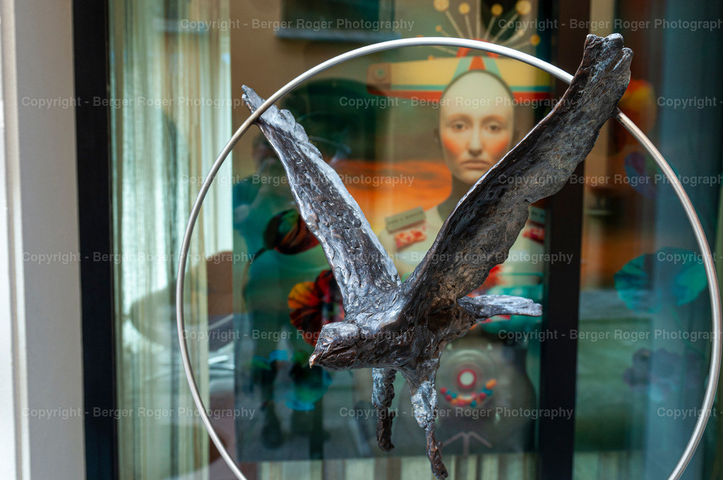 Skulptur Metall Adler ( seitlich ) | Bildmaterial für Fotografen, Webdesigner und Grafikdesigner zum weiterverarbeiten