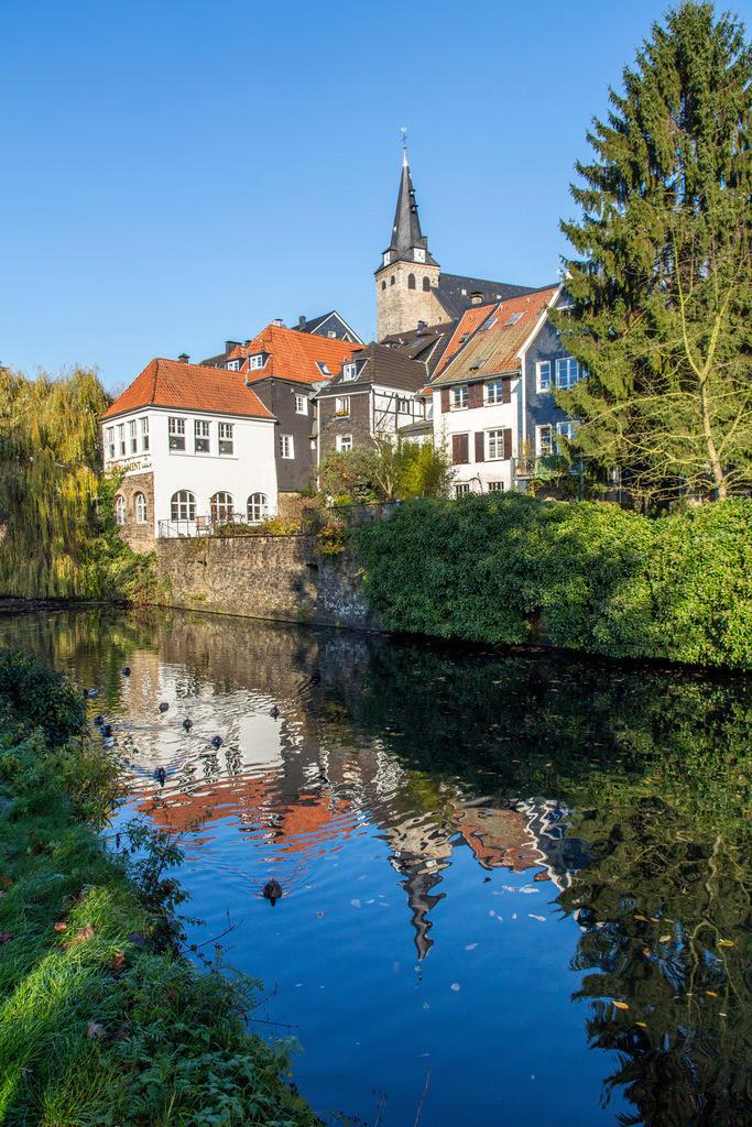 JT-131126-5988 | Essen-Kettwig, südlichster Stadtteil, an der Ruhr, Altstadt,  Marktkirche, Mühlengraben