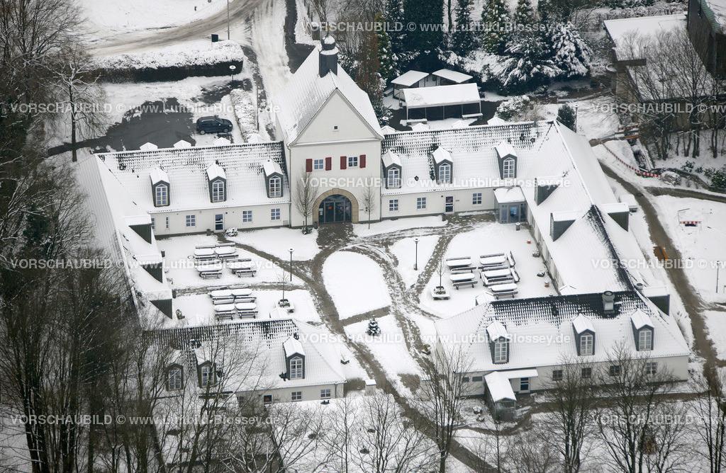 KT10011127 | Schnee,  Kettwig, Essen, Ruhrgebiet, Nordrhein-Westfalen, Deutschland, Europa, Foto: Luftbild Hans Blossey, Copyright: hans@blossey.eu, 06.01.2010, E 006° 56' 30.53