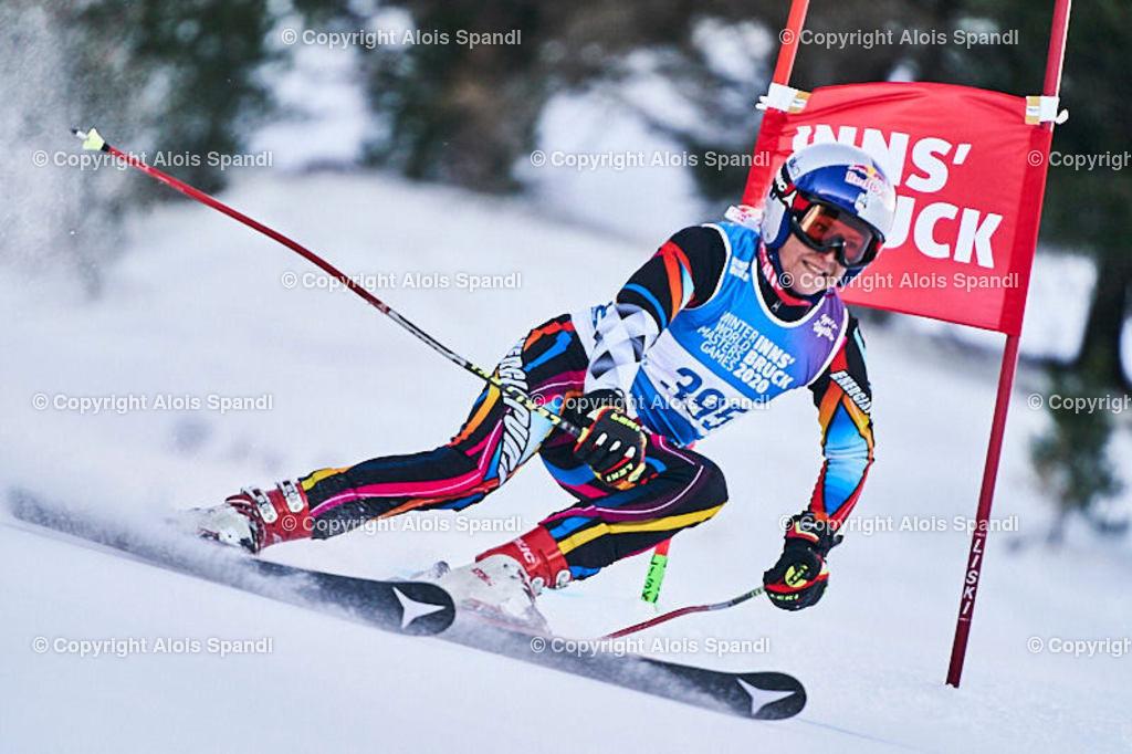 ALS5657_WWMG_GS-II_C   (C) FotoLois.com, Alois Spandl, WinterWorldMastersGames 2020 Innsbruck, Giant Slalom-II Gruppe C Damen, Patscherkofel Olympiaabfahrt, Mi 15. Jänner 2020.