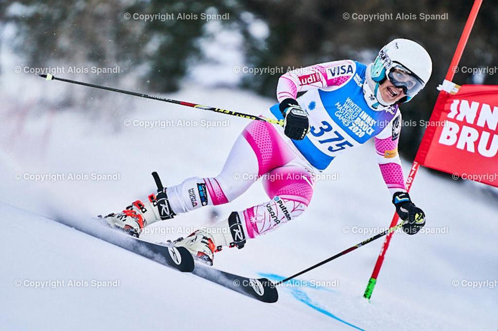 ALS5549_WWMG_GS-II_C | (C) FotoLois.com, Alois Spandl, WinterWorldMastersGames 2020 Innsbruck, Giant Slalom-II Gruppe C Damen, Patscherkofel Olympiaabfahrt, Mi 15. Jänner 2020.